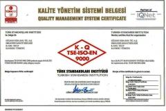 ISOO-9001-2008 belge